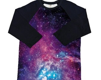 Galaxy Shirt_3/4 Sleeve Raglan shirt_Choose our design or submit your own image