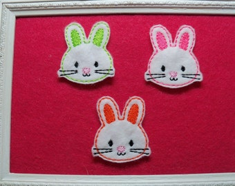 Neon Easter Bunny Feltie, You Choose, and  Always Precut