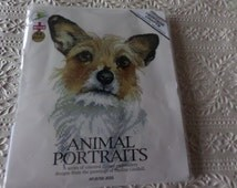 Cross stitch complete kit  picture of a dog from Heritage Crafts Animal Portraits series