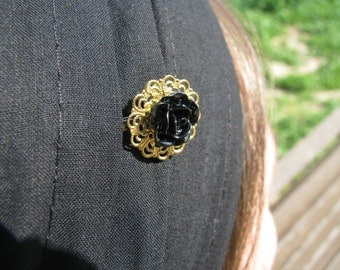 Special occasion golden bobby pin,resin flower bobby pin,tichel accesory,hair pin,hair accesories