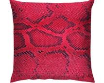"Pink Snake Skin Texture Cushion/Pillow 18"""