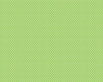 Riley Blake Santa's Workshop - Minidot C2975 Green