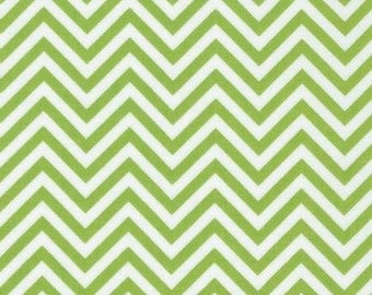 Robert Kaufman Remix Lime Green Zig Zag Chevron 100% Cotton by Ann Kelle