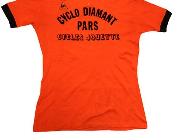 70's vintage Lecoq  cycle jersey made in France