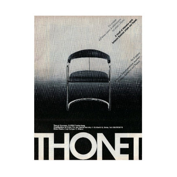 Thonet bauhaus vintage italian original advertisement for Bauhaus italia