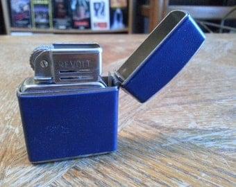 Vintage Austrian Revolt Blue Lighter - With Original Box