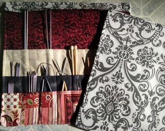 Damask Knitting Needle Organizer