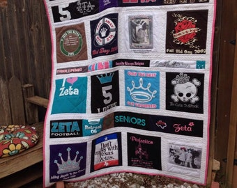 Sorority or Fraternity Tshirt Quilt