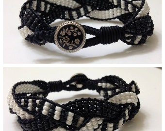 Braided beaded wrap bracelet