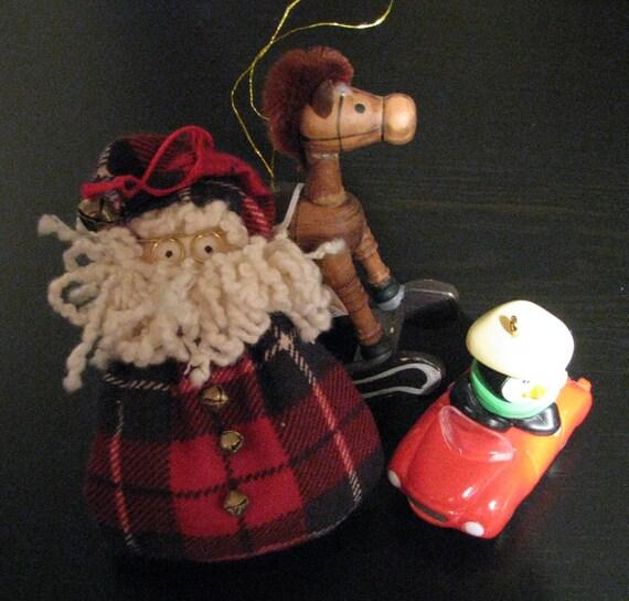 Set of early s ornaments hallmark handmade