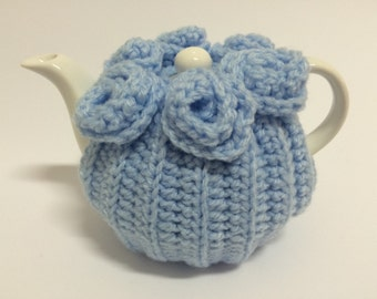 Tea cosy for a small (1/2) cups cozy handmade crochet teapot cover cosie