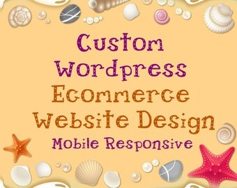 Custom WordPress WooCommerce Website Design, Unlimited Revision, Mobile Responsive, Shopping Cart, Payment integration, PayPal