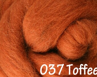 TOFFEE 10g NZ Ashford Corriedale Wool Top Silver Roving - Ship from USA