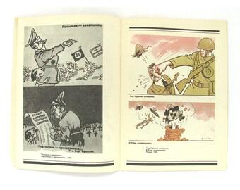 Satire and humor, Caricature, Efimov, Political, Art, Print, Artist and cartoonist, Magazine, Soviet Vintage Book, USSR, 1980s, 1983