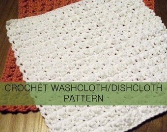 Lumpy Crochet Washcloth Dishcloth PDF Pattern with permission to sell finished cloths