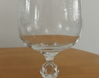 Vintage Libby Etched Water Glasses, set of 6