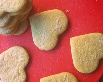 Rosewater Sugar Cookies (vegan)