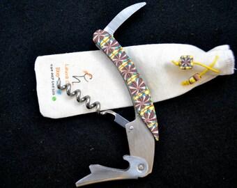 Corkscrew waiter knife.