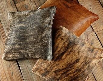 Cowhide Pillow Brindle
