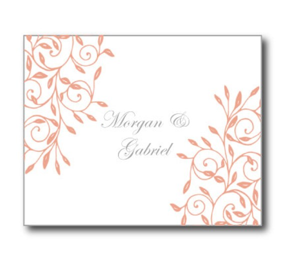 Thank You Cards Template Wedding Back