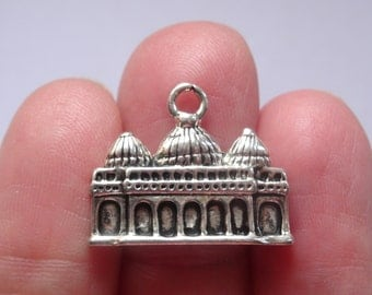 4 St. Mark's Basilica Charms 22 x 18mm Antique Silver  Ref SC304