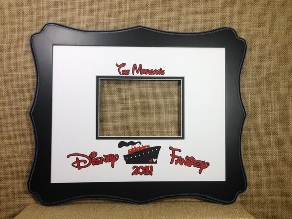 disney cruise inspired autograph book idea photo mat