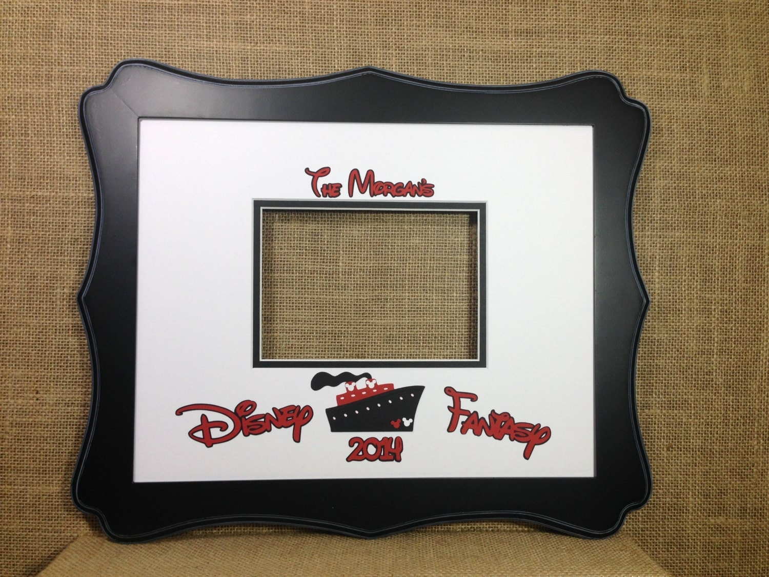 disney cruise inspired autograph book idea photo mat signature matte for 11x14 frame with 5x7 opening for photo memory keepsake