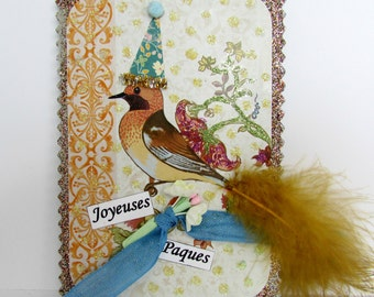 Joyeuses Paques Happy Easter Bird Sign