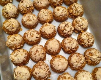 NO BAKE Home Made Pumpkin Peanut Butter Dog Treats With or Without Yogurt Peanut Butter Icing