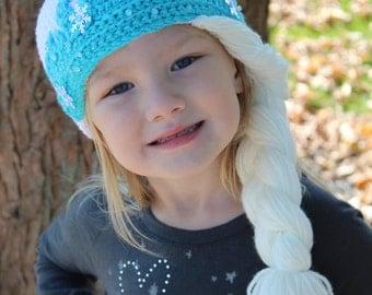 Crochet Elsa Hat PATTERN, Toddler and Child Sizes