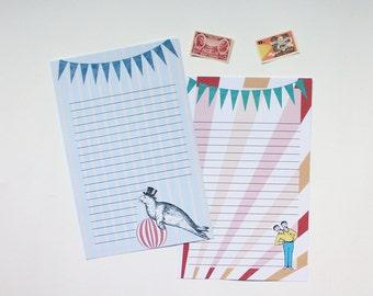 """Writing Sheets (10)  - """"Circus"""""""
