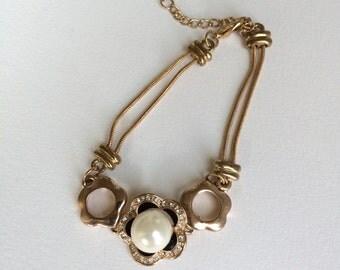 Large Faux Pearl Bracelet
