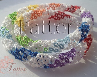 "PDF Tatting Pattern ""Tatted 3D Lace Lariats"""