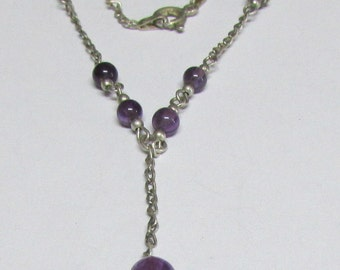 Sterling Silver and Amethyst Necklace