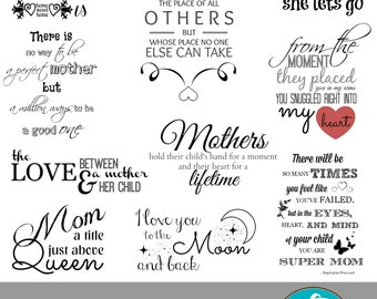 Mommy & Me Collection... 10 Quote Overlays