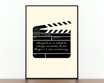 Tim Burton, Movie Poster, Clapper Board, Weird Quote, Artist Quote, Film Quote, Filming, Film Typography, Film Maker, Director, Film, Cinema