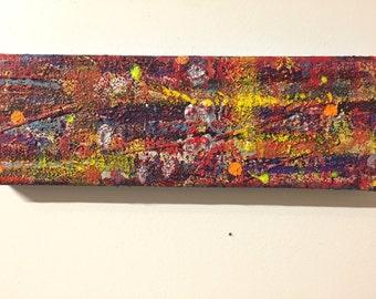12x4 Mixed Media Abstract Painting