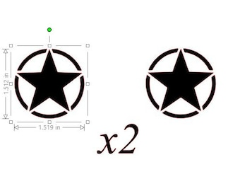 "x2 Custom High Quality Decals (ARMY)  1.5"" x 1.5"""