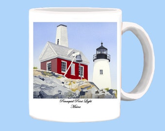 Pemaquid Point Light in Maine mug