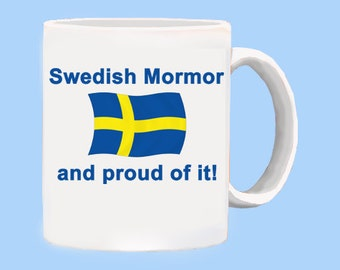 Proud Swedish Mormor mug