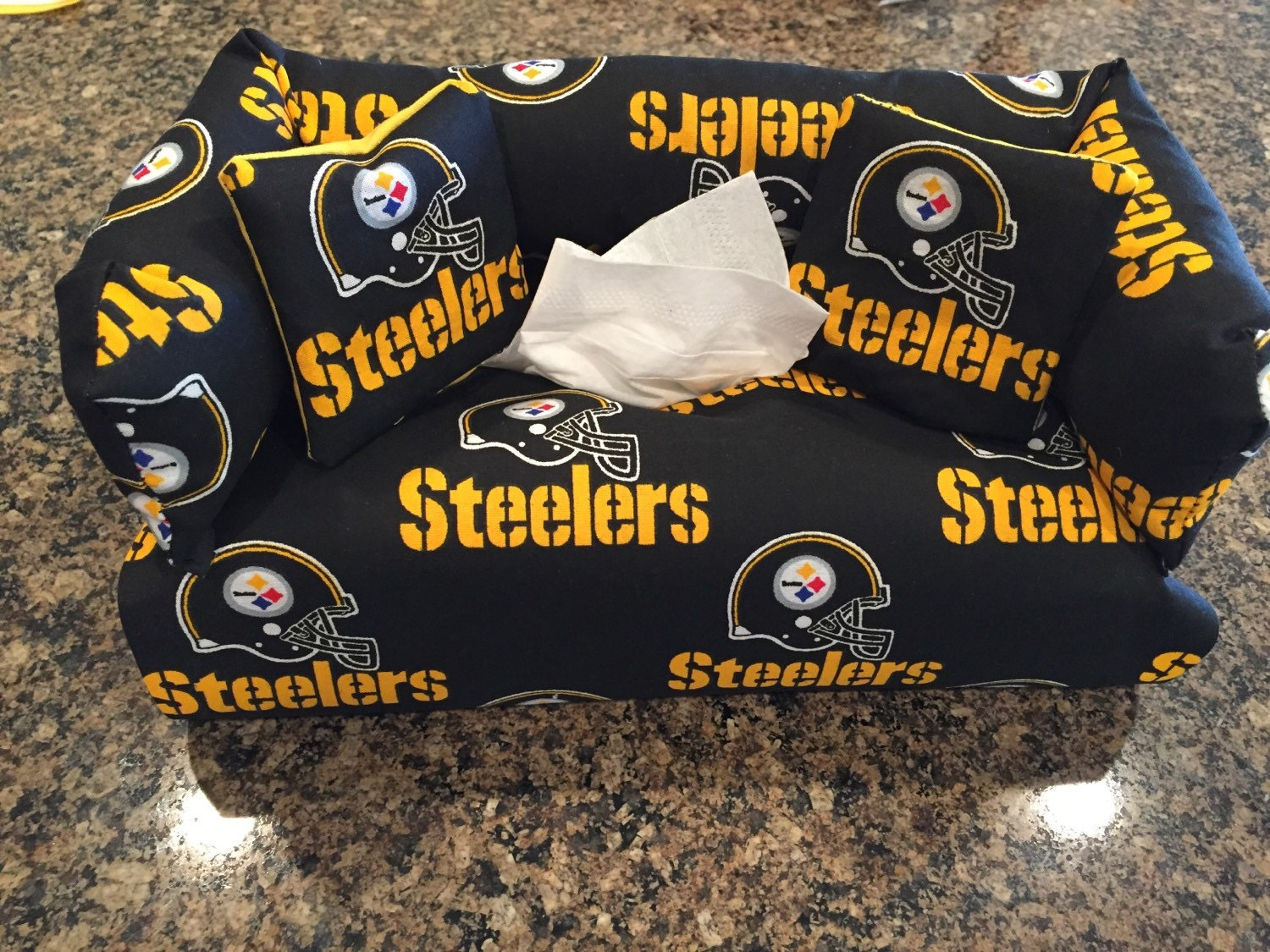 Pittsburgh Steelers Sofa Couch Tissue Box Cover