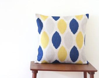 """18""""x18"""" Decorative Pillow Cover Geometric Pattern Yellow Blue Dots Cushion Cover Throw Cushion Cover"""