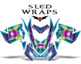 Ski-Doo REV XP Snowmobile COMPLETE Graphics Sled Wrap Decals 2008 - 2014 - Alien Skull Mask