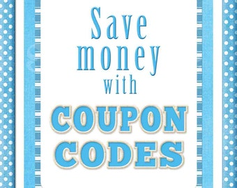 Sales and Coupon Codes - How to use coupon codes - please do not purchase this listing - it is for informational purposes only