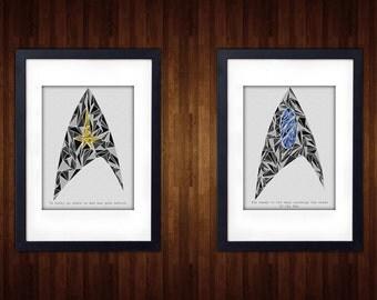Star Trek Minimalist Photo Prints | 4 x 6 | 5 x 7 | 8 x 10