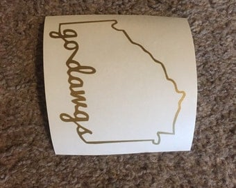 Go Dawgs Georgia Vinyl Decal