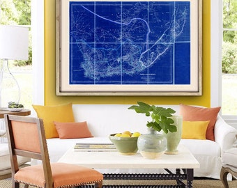 "Map of South Africa 1842, Old South Africa map, 4 sizes up to 45x30"" (115x75 cm) Cape of Good Hope, also in blue - Limited Edition of 100"