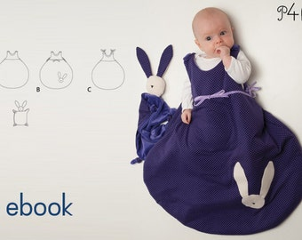 Nice sleeping bag for babies, balloon shaped, sewing pattern ebook with illustrated tutorial - sleep sack for baby from Pattern4kids