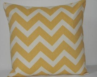 Light Yellow  and Light Ivory Chevron  pillow cover, throw  pillow, Fall pillow, pillow cover, Yellow  Pillow cover  , zig zag pillow cover