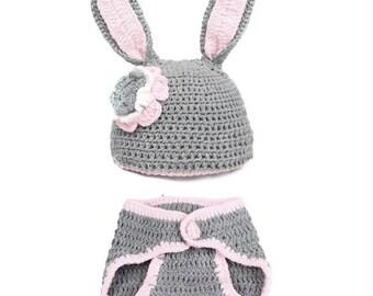 Rabbit Crochet Photo Prop Outfit